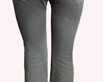 Organic Cotton Twill Pants- Black- M