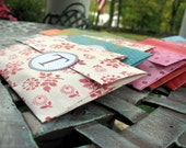"""100 Wedding Send off personalized envelopes with monogram - filled with biodegradable""""Ecofetti"""""""