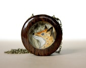 fall fox necklace, woodland animal necklace, fox penant, fox jewelry, what does the fox say, gifts for her, for women, gifts under 50