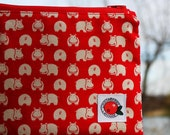 The cool hippo cosmetic pouch in Swedish/Scandinavian design by Lingonberry Latitude - Ready to ship