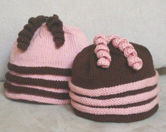 Fun Twirls Hat, Knitting pattern, PDF download