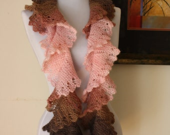Knitted Flounce Scarf, PDF Pattern