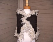SALE Handknit Cabled Capelet, scarf, shawl, wrap handspun yarns