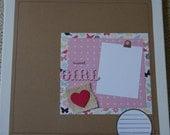 Sweet Girl Premade Single Scrapbook 12 x 12 Layout