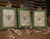 Upcycled Frames Fleur De Lis--Set of Three