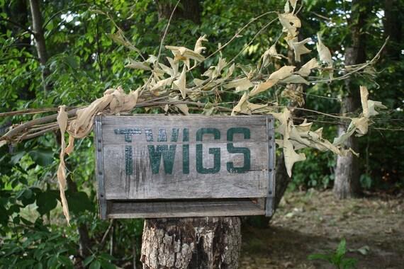 Twigs Wooden Soda Crate - Vintage - Storage Crate