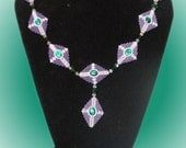 Beaded Bead Diamond Necklace