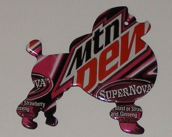 Standing Show Poodle Magnet - Mountain Dew Supernova Cola Soda Can