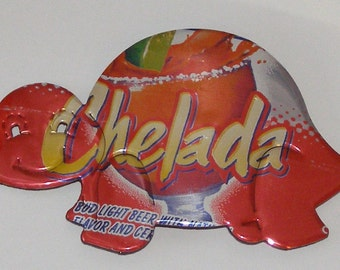 Turtle Magnet - 'Bud Light' Clamato Chelada Beer Can