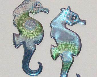 2 Seahorses - Pastel Sea Ocean Blue Cola Soda Can Magnet (Replicas)