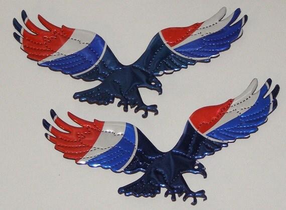 Eagle Set - Patriotic Red White Blue Cola Soda Can Magnet