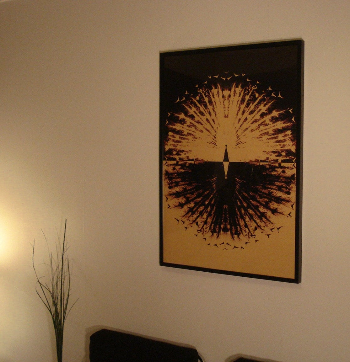 Mad Med Inspired Creative Lounge Peacock Wall Art 70x100cm