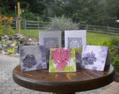 handmade paper plantable gift card set