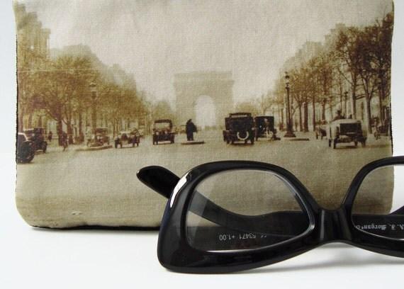 Zipper Purse with Vintage Photo of the Champs-Élysées, c. 1930