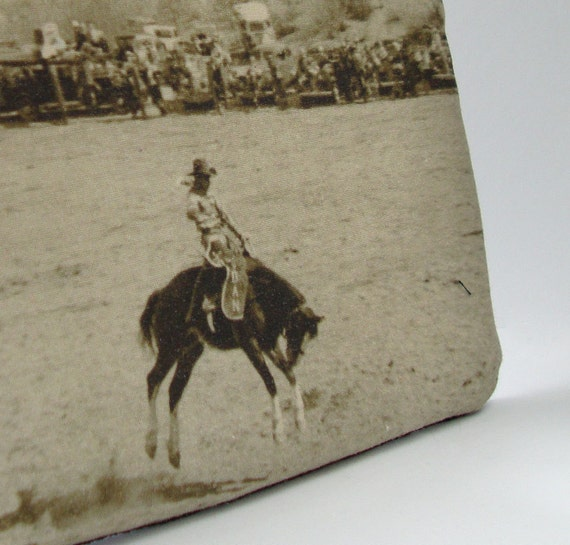 Zippered Pouch with Vintage Photo: Rodeo Dan, c. 1940