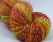 CANDY  - BFL/mohair - handspun yarn - navajo ply - 3.88 oz/ 349 yd