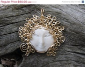 50% OFF The Golden Haired Maidens - Bianca - Wire Wrapped Pendant