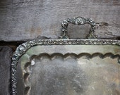 RESERVED FOR ANDIE Antique Silver Serving Tray