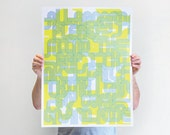 Abstract Typographic Screen Printed Poster (Limited Edition)