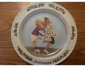 Vintage Sarah Stilwell Collector Plate 1985, September