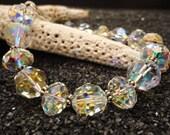 Chunky Swarovski AB  Clear Crystal Bracelet
