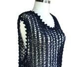 XXL - XXXL -Plus Size - Beach Cover Up in Navy Blue - Women Teens Accessories - Spring Summer Fashion - Beach Dress