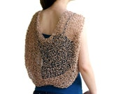 Beige Shrug - Bridal Bolero  - Neutral Chic Elegant Womens Sweater Knit - Spring Summer Fashion - Wedding Accessories - Dreamy Tan