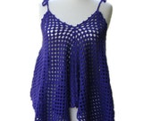 Tunic - Mini Beach Dress in Purple - Women Accessories - Spring Summer Fashion - Beach Cover-up