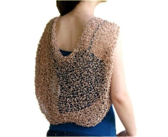 Beige Shrug - Bridal Bolero  - Neutral Chic Elegant Womens Sweater Knit - Spring Summer Fashion - Wedding Accessories - Dreamy Tan
