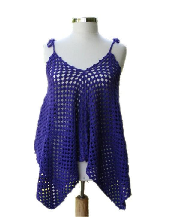 Tunic - Mini Beach Dress in Purple - Women Accessories - Spring Summer Fashion - Beach Cover-up