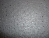 For Jacqueline Dark Gray Emu Ostrich Leather Cowhide 22.75 sq ft hide