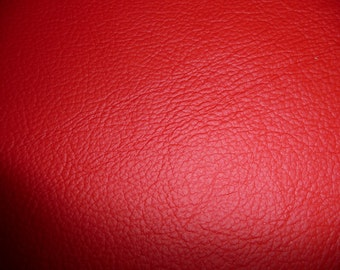 "Leather 20""x20"" Soft Bright Red KING Full Grain Cowhide 2.75-3oz / 1.1-1.2 mm PeggySueAlso™"