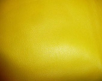 """Leather 20""""x20"""" Bright Canary Yellow Top Grain DIVINE Line Cowhide - 2-2.5 oz / .8-1 mm PeggySueAlso"""