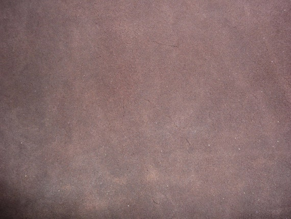 """12""""x12"""" Dark Chocolate Brown Suede Leather Hide  3.5oz/1.4mm thick From PeggySueAlso"""