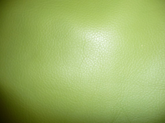 """12""""x12"""" Lime Green Pebbly Grain KING Leather Hide LAST ONE this size 1sq ft on PeggySueAlso"""