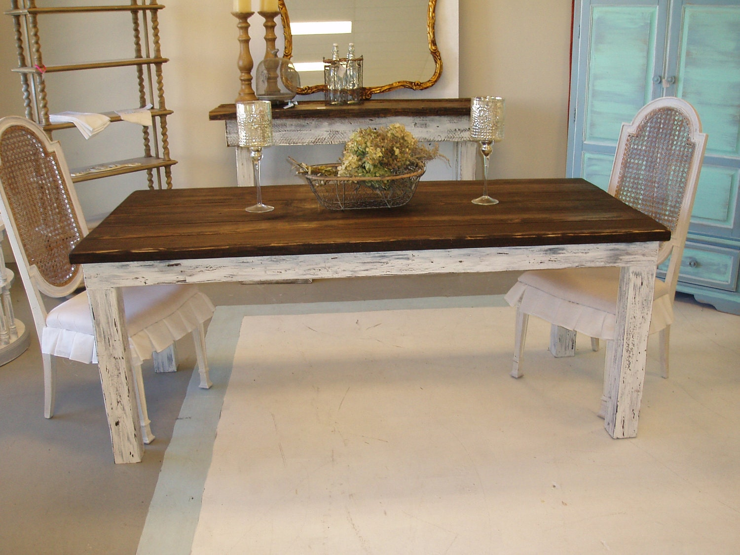 Shabby Chic Farm Table Free Shipping