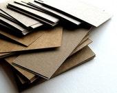 100 Blank Business Cards Recycled Cardboard - DIY