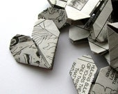 50 Origami Hearts Recycled Manga Comics