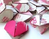 50 Origami Hearts Recycled Manga Comics - Magenta
