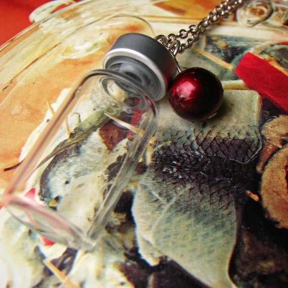 CLEARANCE Poison Apple Glass Vial Necklace