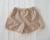 Floral Shorts, Cream And Pink, Pyjamas, Loungewear, Lingerie