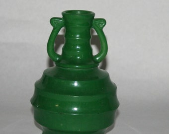 Green Art Glass Vase