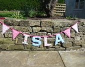 Children's personalised name bunting - 4 letters