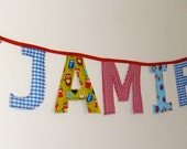 Children's personalised name bunting - 5 letters