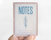 "notebook ""blue feather"" - vintage - retro - design - limited edition  002"