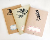 Notebook birds trio - lot of 3 - limited edition of 30