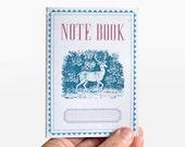 notebook - lined -  Deer 02 - vintage retro design - VAR6004L