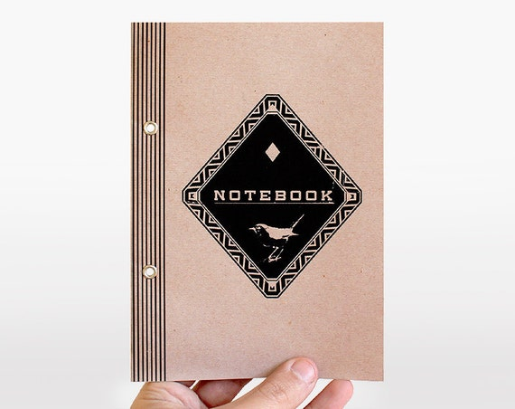 notebook diamond bird - pastel rose - limited edition