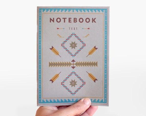 Notebook TEXT grey -  tribal edition - NAV5003