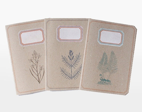 Notebook - lined - Botanic Trio - lot of 3 - BOT6001